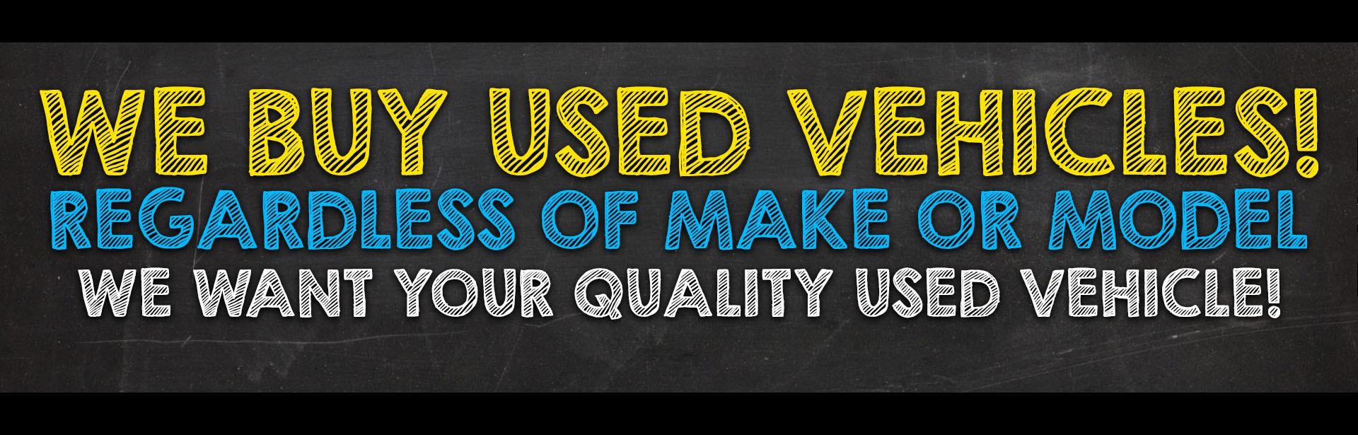 We buy used vehicles - September 2017 - Chalk