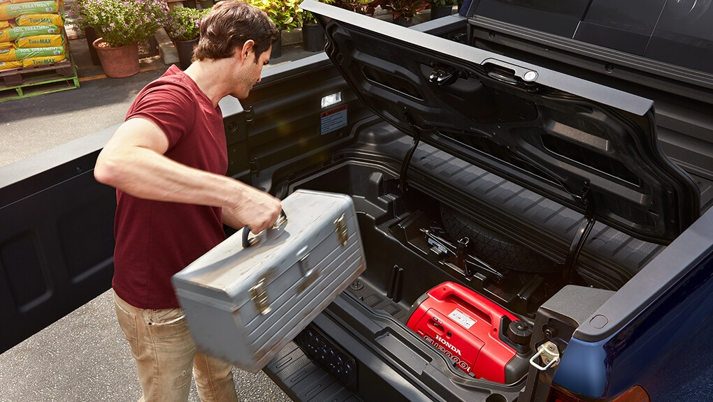 McFadden Honda - 2019 Honda Ridgeline - Exterior Rear - In-bed Trunk
