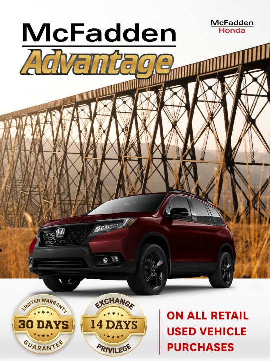 McFadden Advantage: 30 Days Limited Warranty Guarantee and 14 Days Exchange Privilege. The best used car warranty in Southern Alberta.
