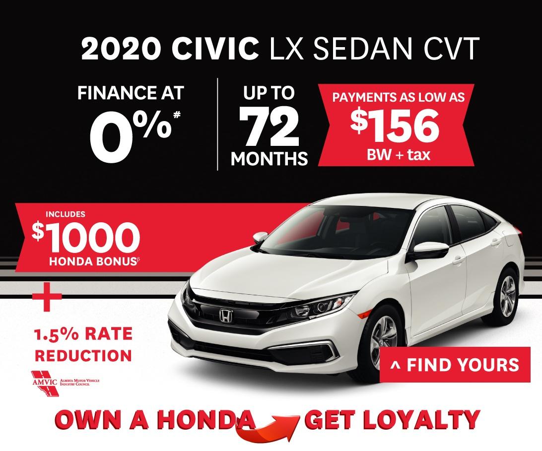 2020 Honda Civic Sedan CVT Offer