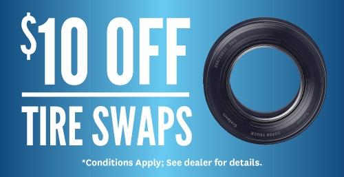 $10 Off Tire Swaps