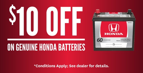 Up to $20 Off Genuine Honda Batteries
