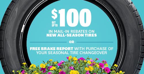 $100 All-Season Tire Mail-In Rebate