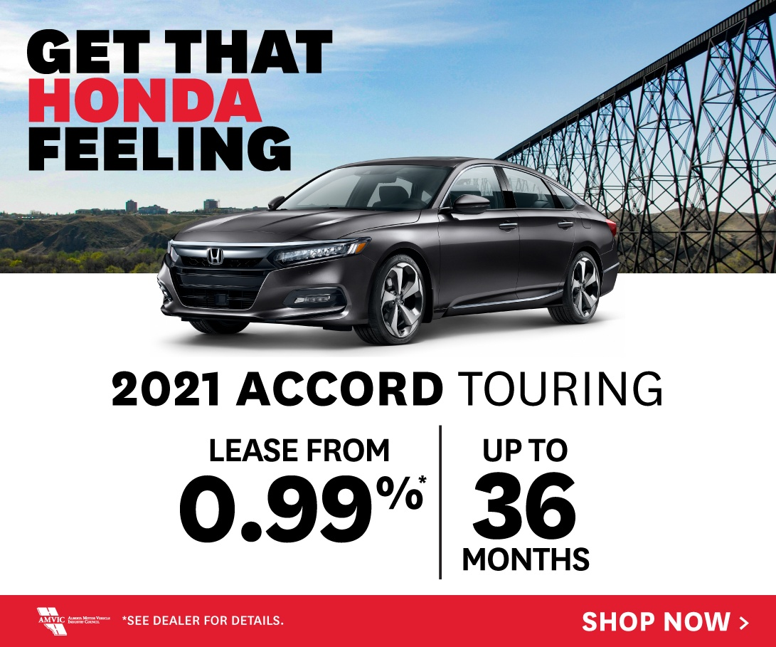 2021 Honda Accord Touring - Lease from 0.99% for up to 36 months O.A.C.