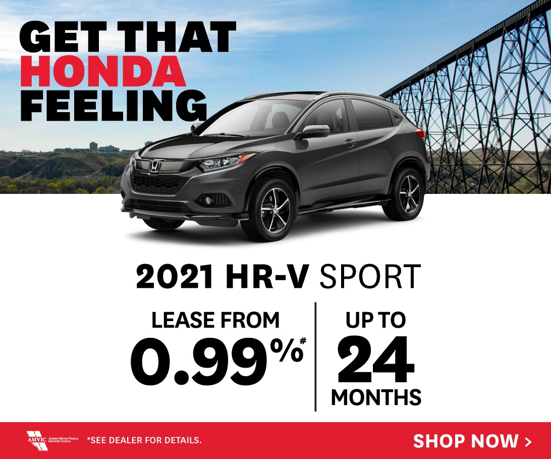 2021 Honda HR-V - Lease from 0.99% for up to 24 months O.A.C.